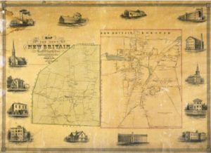 Map of the Town of New Britain, Hartford County, Conn. From original surveys by E.M. Woodford