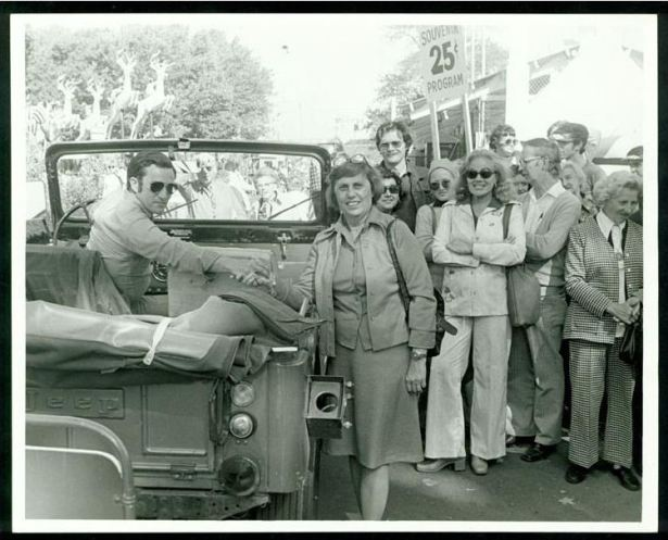 Ella Grasso at the Danbury Fair, ca. 1975-80