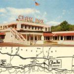 The Clam Box, postcard by Cliff Scofield, ca. 1950s