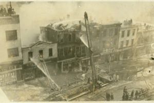 Height of the fire on Greenwich Avenue February 22, 1936
