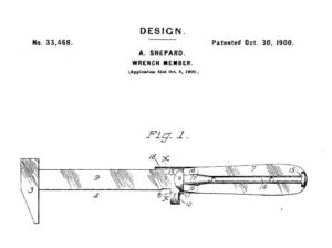 Amos Shepard, Plantsville, Design for a Wrench Member