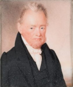Dr. Daniel Sheldon of Litchfield, painted by Dickinson in 1831