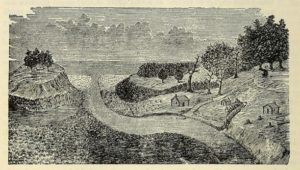 Illustration of Lorenzo Carter's first cabin