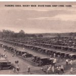 Postcard of the Parking Area, Rocky Neck State Park, East Lyme