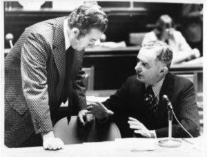 State Representative William A. O'Neill and State Senator David M. Barry