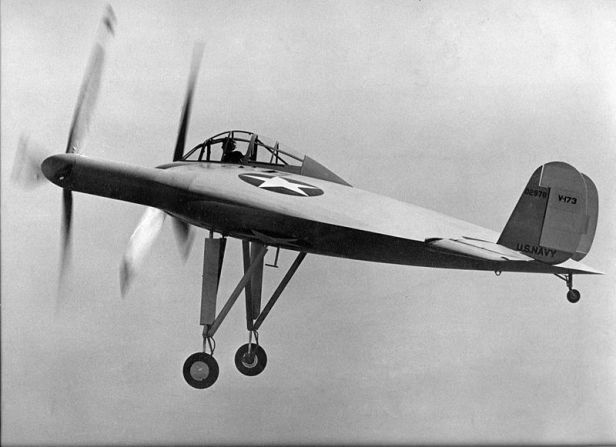 Guyton flying the V-173, November 23, 1942