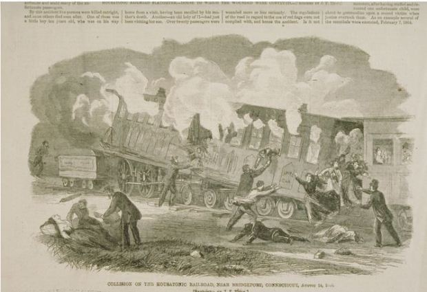 Collision on the Housatonic Railroad near Bridgeport