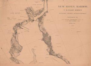 New Haven Harbor, US Coast Survey, 1872