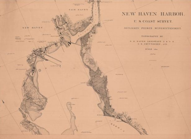 New Haven Harbor, US Coast Survey, 1872