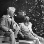 Mark Twain with his friend, John Lewis