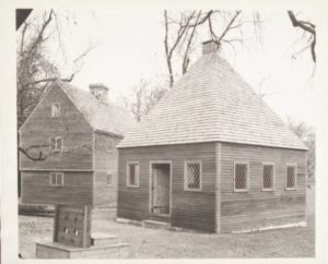 Replicas of the 1636 church and house built by Reverend Thomas Hooker