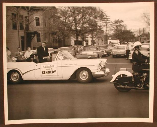 John F. Kennedy campaigning in New Haven, 1960