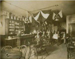 Interior of Otto Henning's Cafe