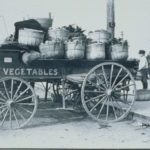 Vegetable cart in Charles Street Market, Hartford