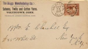 Envelope of the Briggs Manufacturing Company