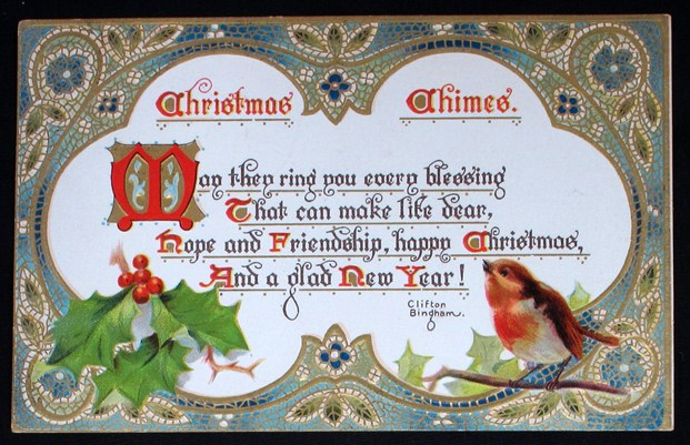 Late 19th century Christmas postcards