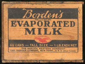 Borden's Evaporated Milk Crate Label