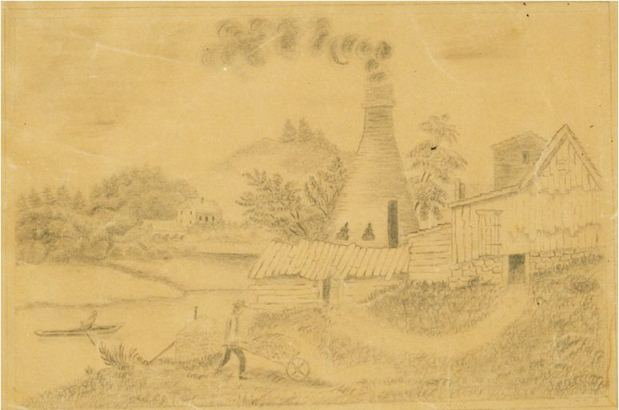 Pottery at Norwich, Norwich, ca. 1830.