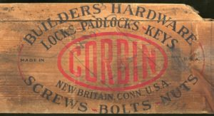 P. & F. Corbin hardware shipping crate