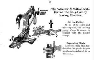 The Wheeler & Wilson Ruffler