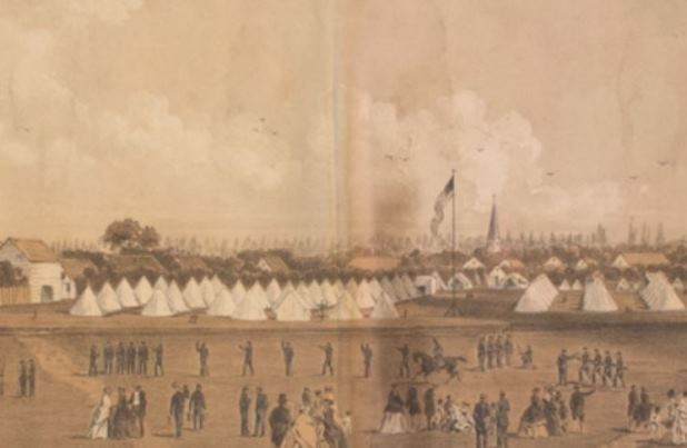 Camp of the 13th Regiment Connecticut Volunteers