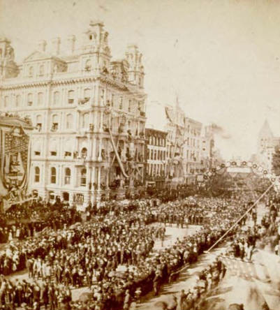 Battle Flag Parade, Hartford, Connecticut, September 17, 1879