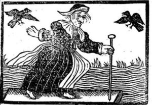 An English woodcut of a Witch