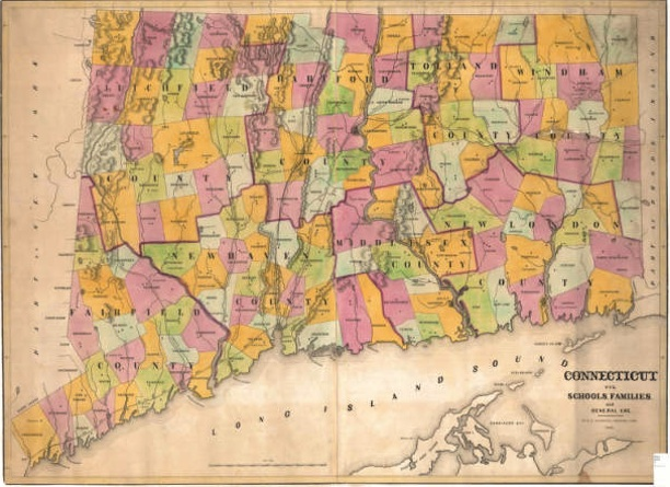 1848 Map of connecticut