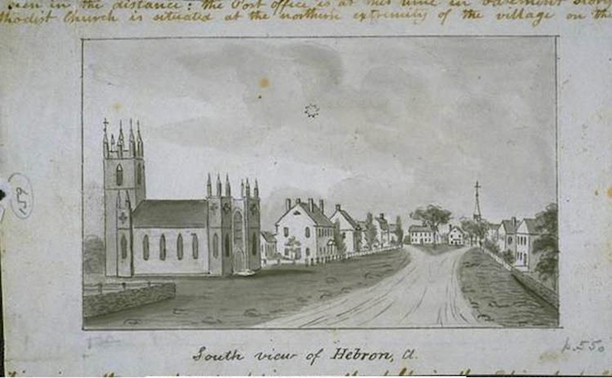 Illustration of Hebron by John Warner Barber