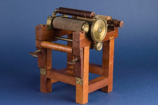 Patent Model for the Manufacture of Rubber Fabrics, Charles Goodyear, 1844