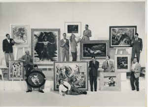 Group photo of Famous Artists School Faculty