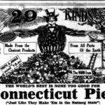 Detail of an advertisement for Connecticut Pies, 1913