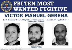 FBI Ten Most Wanted Fugitive poster of Victor Manuel Gerena