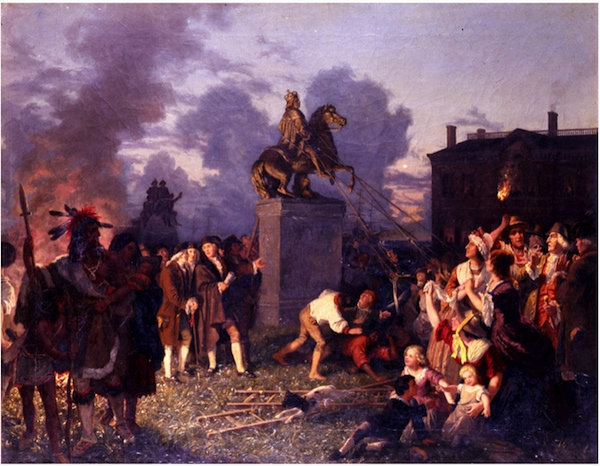 Pulling Down the Statue of King George II, New York City