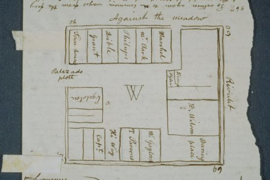 Plan of the ancient Palisado Plot in Windsor