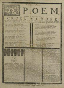 Poem relating the Beadle murders