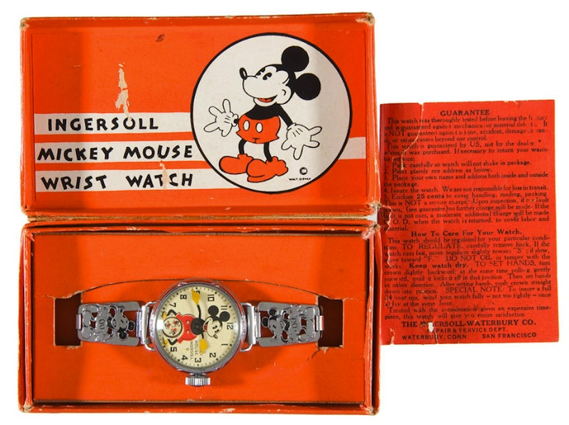 Ingersoll Mickey Mouse Wrist Watch, 1933