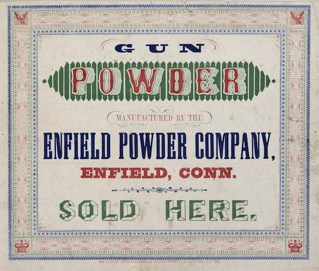 Advertisement for the Enfield Powder Company