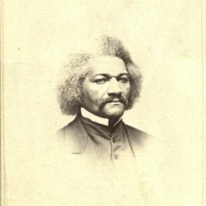 Portrait detail of Frederick Douglass