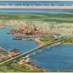 Postcard of New London Bridge on Thames River, New London, Conn.