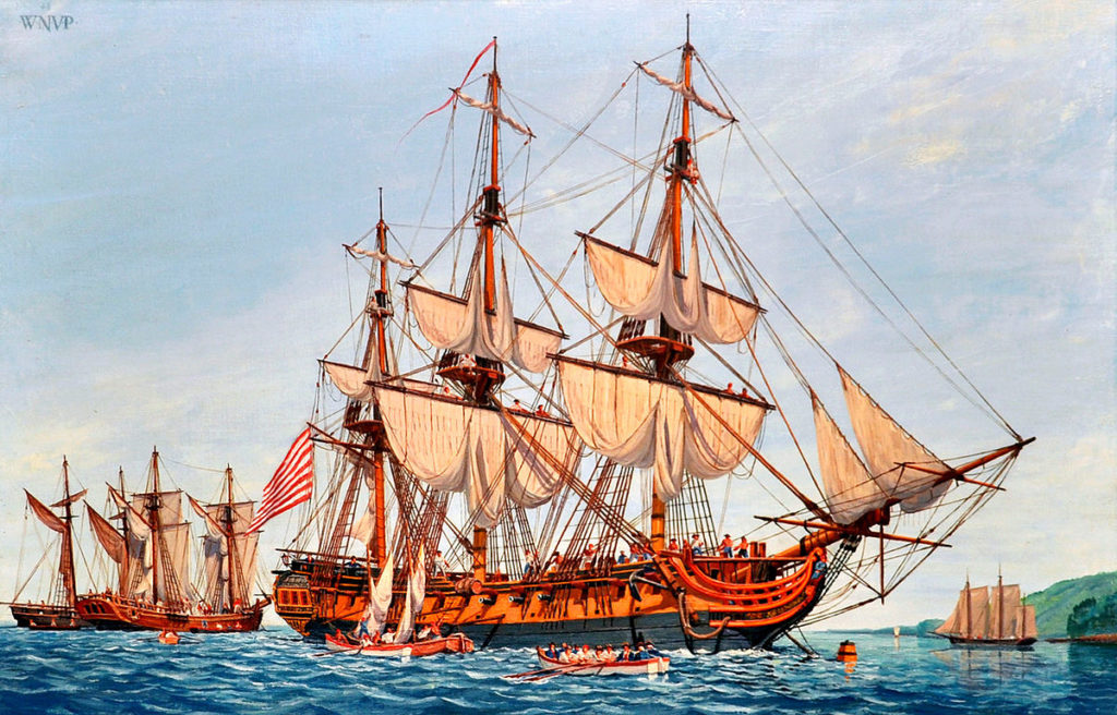 USS Confederacy (by William Nowland Van Powel