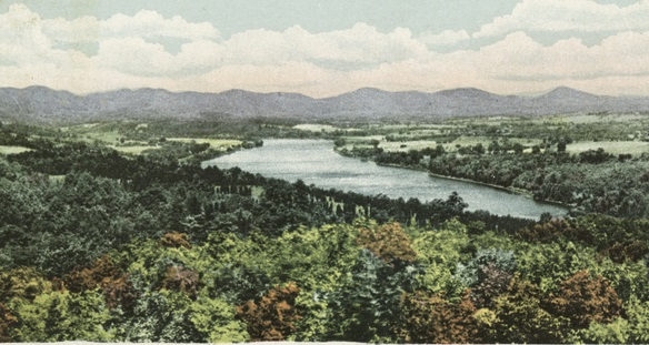 Connecticut River and Mt. Holyoke Range from Mountain Park, Connecticut