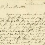 """A 1761 letter by Wheelock describing the progress of his first female students, Amie and Miriam. Source: """"The Occom Circle,"""" n.d. Dartmouth College."""