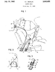 N. I. Bohlin, Safety Belt, patent number 3,043,625