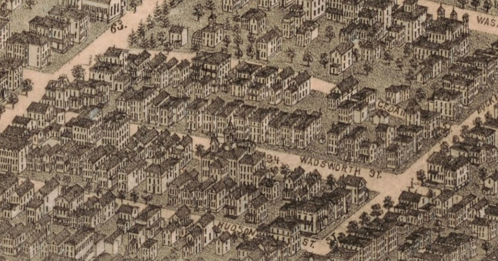 View of Wadsworth Street in 1877