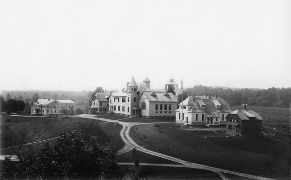 Elevated view of Storrs Agricultural College
