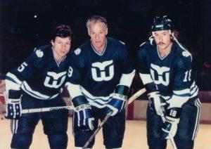 Mark, Gordie, and Marty Howe